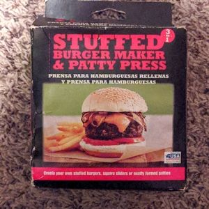 Stuffed burger maker & patty press